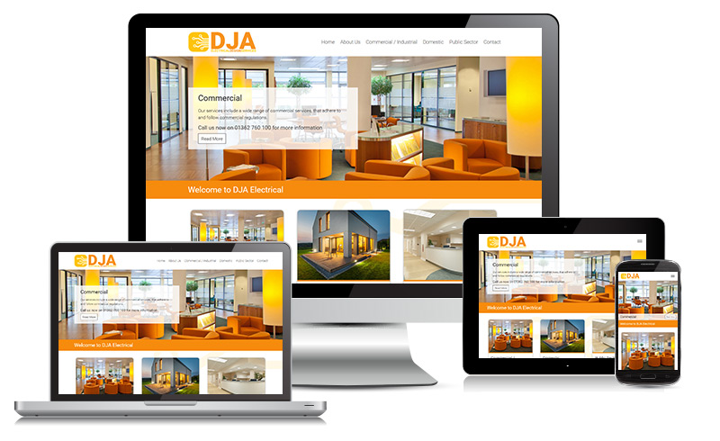 Website Design - DJA Electrical Design