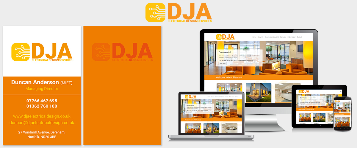 Company Branding Norwich - DJA Electrical Design