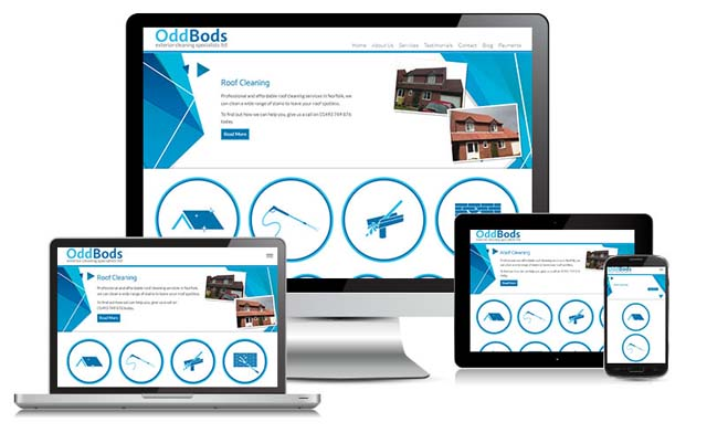 odd bods website design