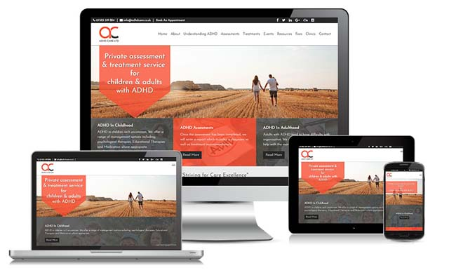 ADHD-Care Website design