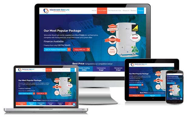 Macbrook Gas Website design
