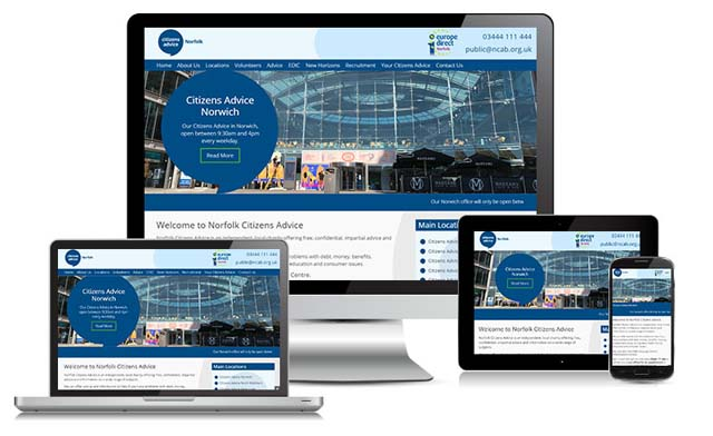 NCAB Website design